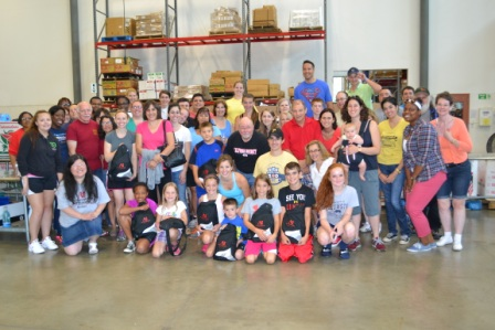 ACBA Backpack Project Volunteer Group Shot